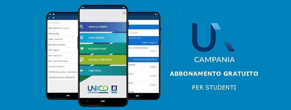 Unico Campania abbonamento gratuito studenti